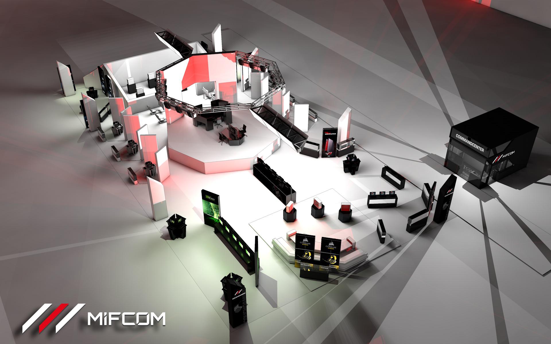 MifCom Messestand Idee und Umsetzung in 3D